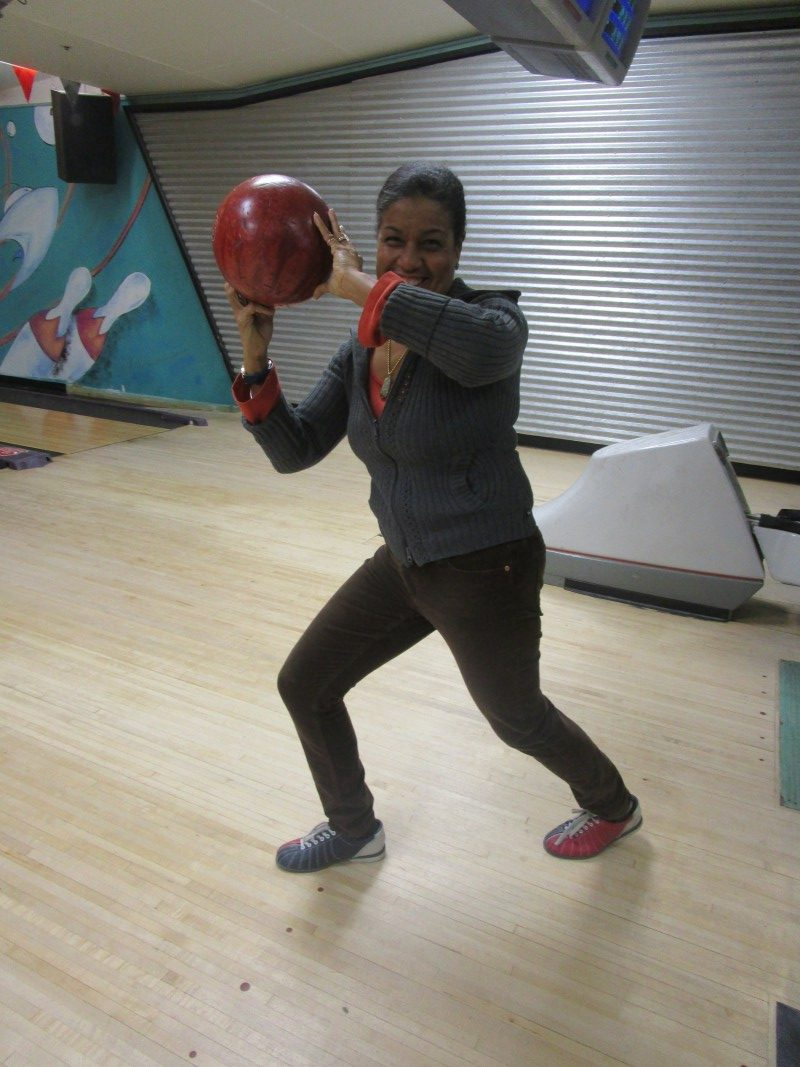 Carol and her bowling ball